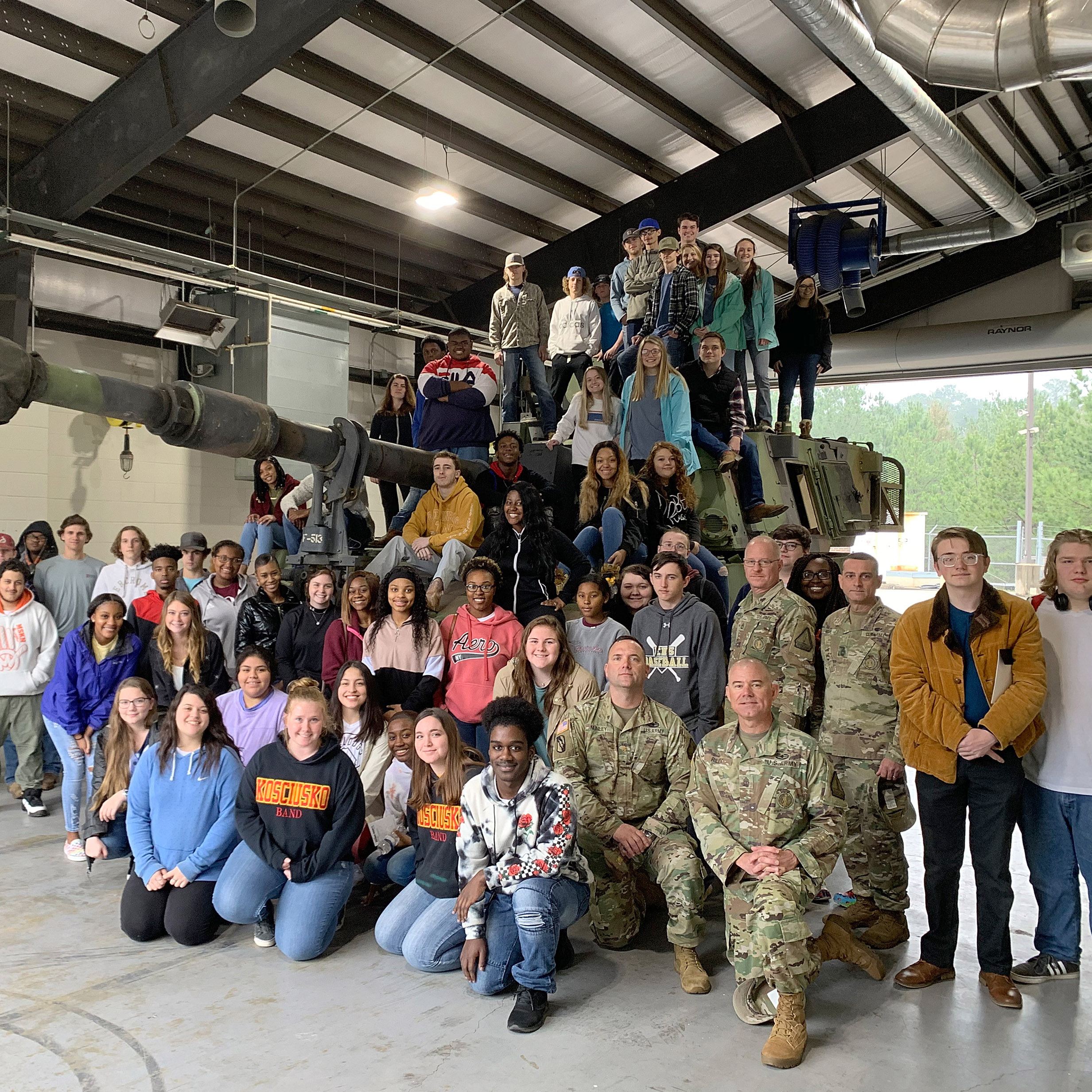 KACTC Students Tour Local Armory