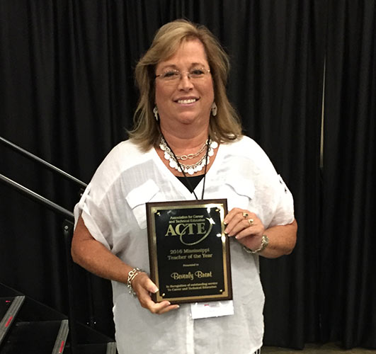 Beverly Brent Named MSACTE Teacher of the Year