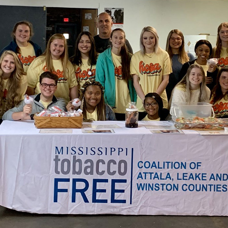 Kosciusko-Attala Health Science II Students Hold Great American Smokeout Event