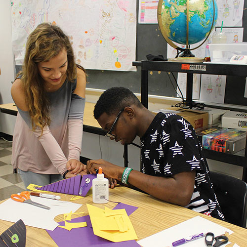 Transitional Moments: Career Pathway experience Students Peer-Mentor Students With Special Needs