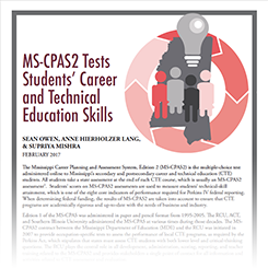 MS-CPAS2 Tests Student's Career and Technical Skills
